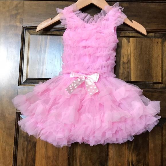 557bc2295e44 Light pink ruffle sleeveless tutu dress. M_5bafc321f30369f5bef1b6ab